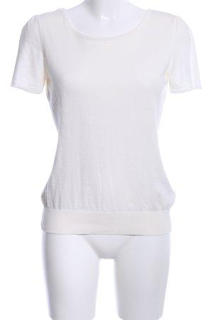H&M Strickshirt weiß Casual-Look