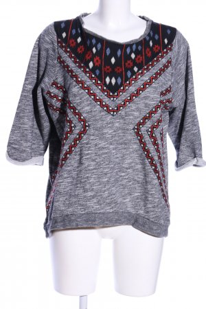 H&M Strickshirt abstraktes Muster Casual-Look