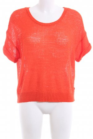 H&M Gebreid shirt licht Oranje casual uitstraling