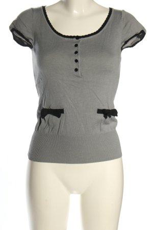 H&M Camicia maglia grigio chiaro stile casual