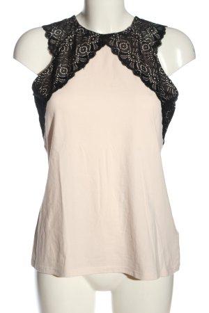 H&M Top de encaje blanco puro-negro look casual