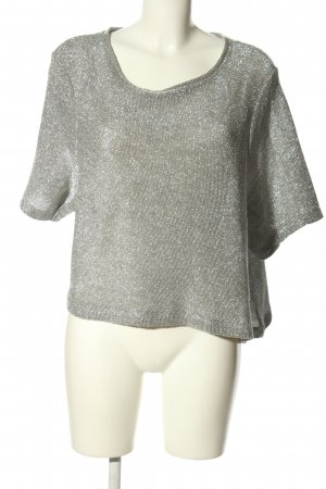 H&M Gebreid shirt lichtgrijs casual uitstraling