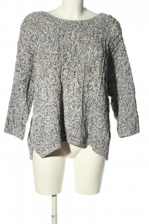 H&M Cable Sweater light grey-black flecked casual look