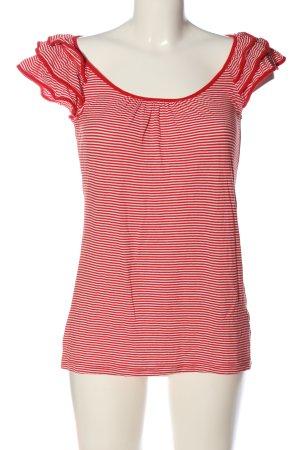H&M Strickshirt rot-weiß Streifenmuster Casual-Look