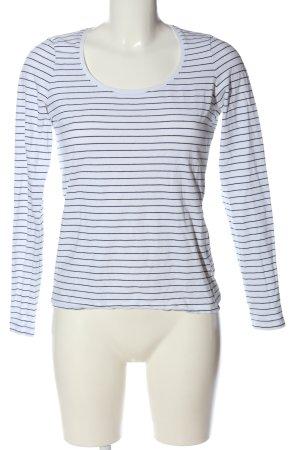 H&M Strickshirt weiß-schwarz Streifenmuster Casual-Look