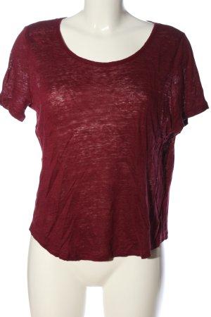 H&M T-shirts en mailles tricotées rouge style décontracté