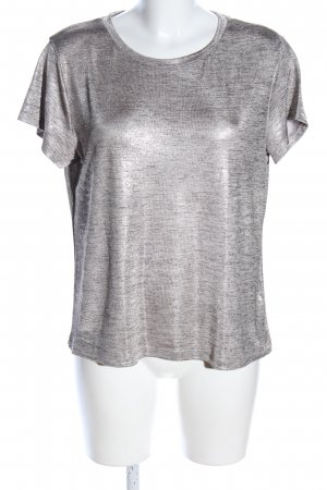 H&M Strickshirt silberfarben meliert Casual-Look
