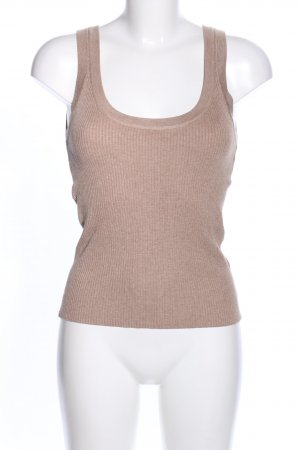 H&M Knitted Top nude flecked casual look