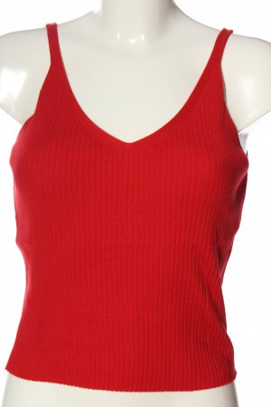 H&M Stricktop rot Casual-Look