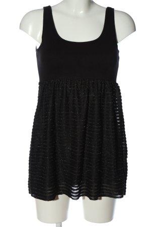 H&M Top de punto negro look casual