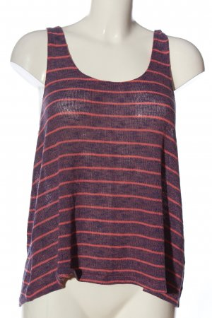 H&M Stricktop lila-rot Streifenmuster Casual-Look