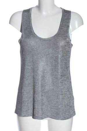 H&M Stricktop silberfarben meliert Casual-Look
