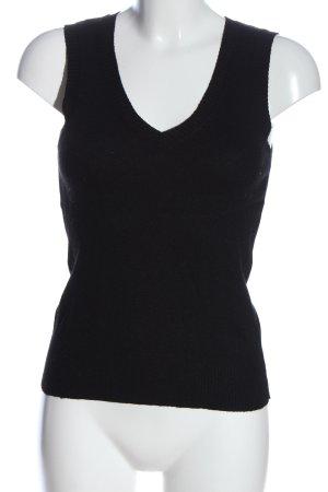 H&M Gebreide top zwart casual uitstraling