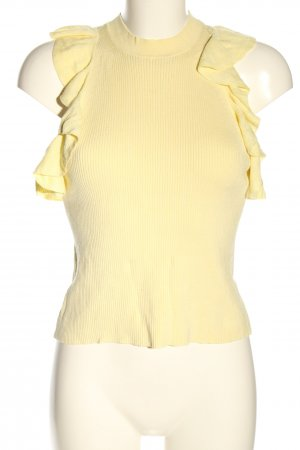 H&M Top de punto amarillo pálido look casual