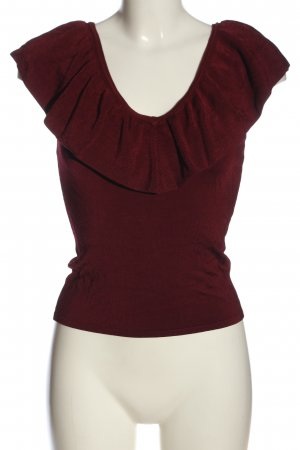 H&M Knitted Top red casual look