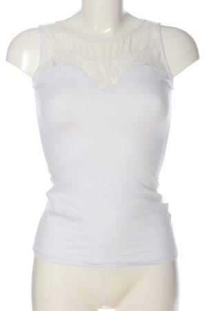 H&M Top lavorato a maglia bianco stile casual