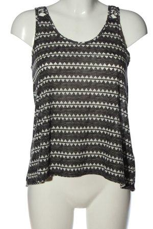 H&M Gebreide top zwart-wit Patroon-mengeling casual uitstraling