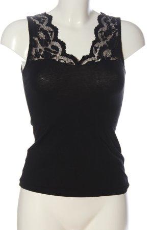 H&M Top lavorato a maglia nero stile casual