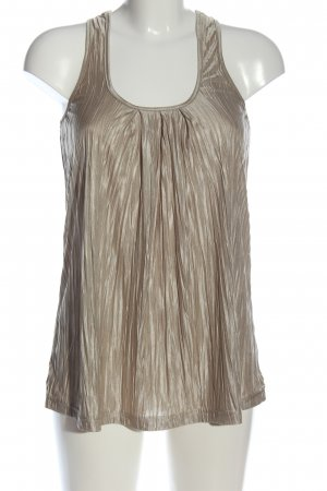 H&M Knitted Top gold-colored wet-look