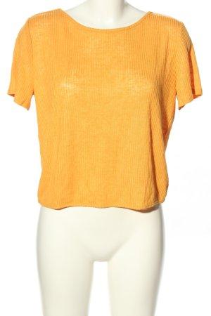 H&M Top z dzianiny jasny pomarańczowy W stylu casual