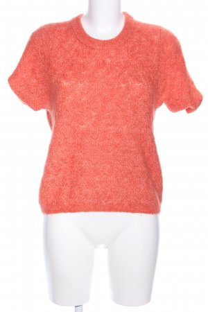 H&M Knitted Top light orange-natural white flecked casual look