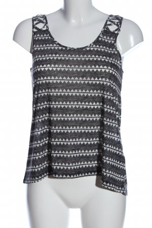 H&M Knitted Top black-white graphic pattern casual look