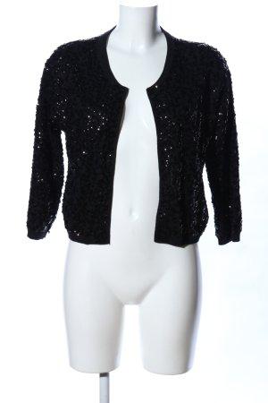 H&M Knitted Vest black glittery