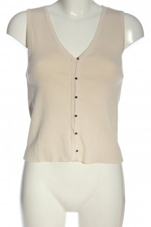 H&M Strickweste creme Casual-Look