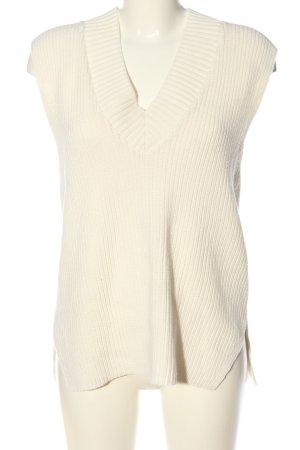 H&M Chaleco de punto crema look casual