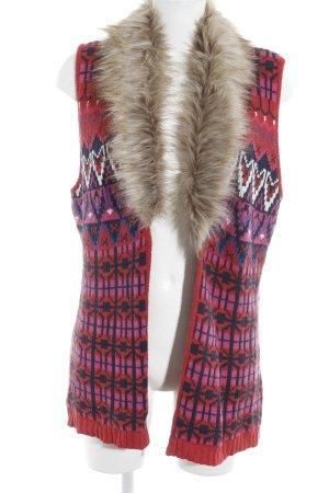 H&M Gilet tricoté motif abstrait style extravagant