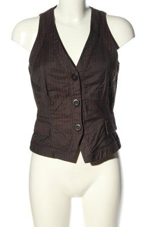 H&M Gilet de costume brun-noir motif rayé style d'affaires