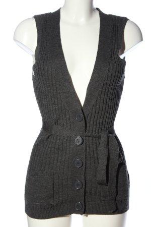 H&M Gebreid vest lichtgrijs gestippeld casual uitstraling