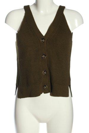 H&M Strickweste braun Casual-Look