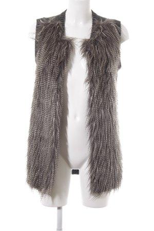 H&M Gilet tricoté gris-gris brun style décontracté