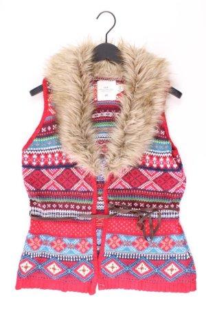 H&M Strickweste Größe M mit Faire-Isle-Muster mit Gürtel mehrfarbig aus Baumwolle