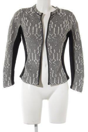 H&M Strickweste schwarz-wollweiß abstraktes Muster Casual-Look