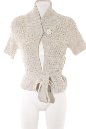 H&M Gilet tricoté argenté-crème Motif de tissage style décontracté