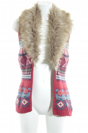 H&M Gilet tricoté Motif de tissage style décontracté