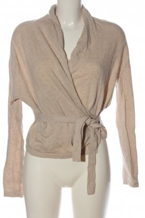 H&M Knitted Wrap Cardigan cream casual look