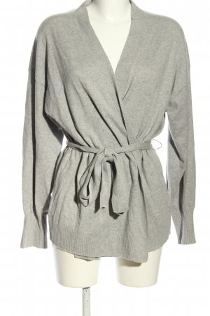 H&M Knitted Wrap Cardigan light grey allover print casual look