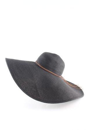 H&M Cappello di paglia nero elegante