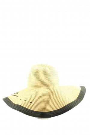 H&M Straw Hat natural white-black casual look