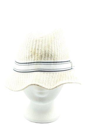 H&M Chapeau de paille motif rayé style décontracté
