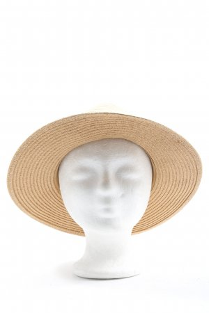 H&M Straw Hat cream-pink casual look