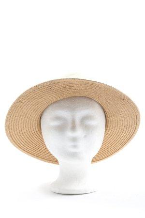 H&M Chapeau de paille crème-rose style décontracté