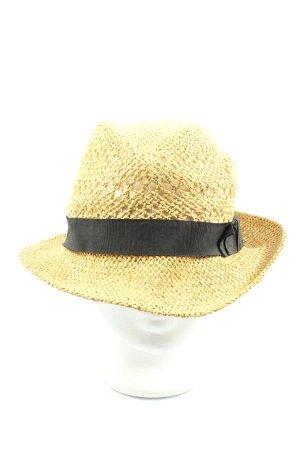 H&M Chapeau de paille jaune primevère-noir style décontracté