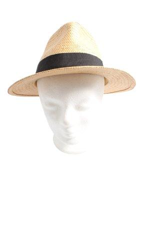 H&M Strohhut creme-schwarz Casual-Look