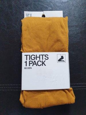 H&M Spodnie termiczne piaskowy brąz