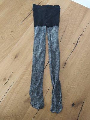 H&M Spodnie termiczne czarny-srebrny