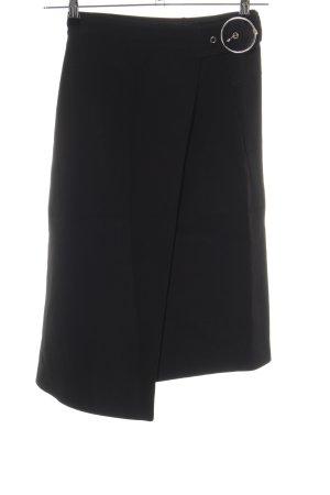 H&M Studio Falda asimétrica negro look casual